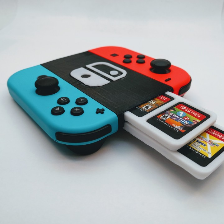 3D Printable Nintendo Switch Joycon Grip and Game Case by
