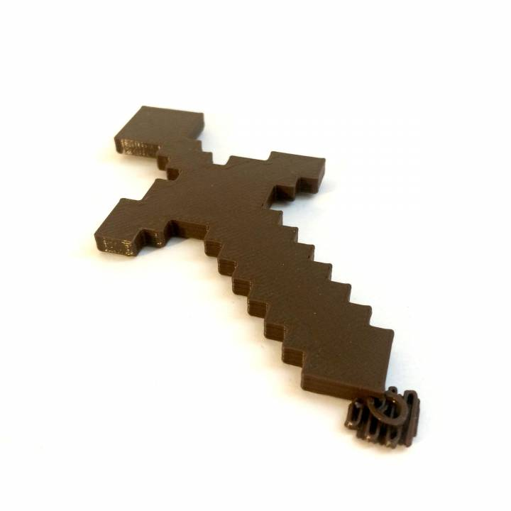 graphic relating to Printable Minecraft Sword named 3D Printable Minecraft sword ornament as a result of Brian Wiggins