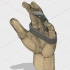 Flexible Articulated Modular Single Finger Prosthesis with base image