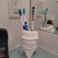 Picture of print of Smiling Toothbrush Holder