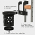 Crutch Accessories: Stabilized cup holder and plate holder image