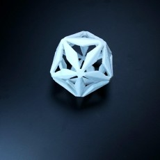 Xmas  Low poly 3D snowflake.