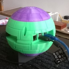 Picture of print of Starwars Deathstar raspberry Pi 3 case