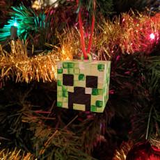 Picture of print of Creeper head ornament