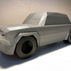 Picture of print of Low Poly 1973 BMW 2002 Turbo