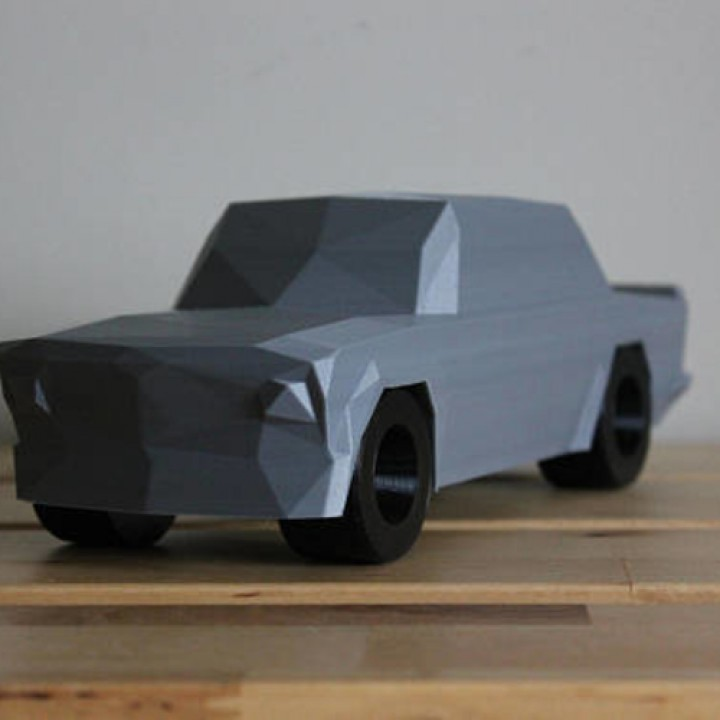 3d Printable Low Poly 1973 Bmw 2002 Turbo By Dominimadesign