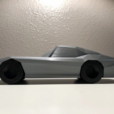 Picture of print of Low Poly 1964 Chevy Corvette Stingray