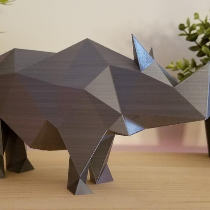 Low Poly Rhino