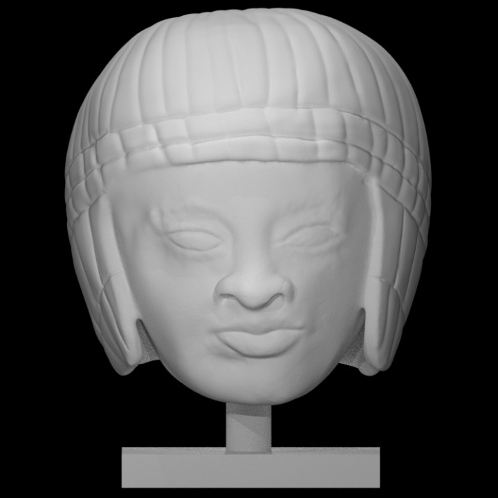 Limestone head of a woman