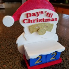 Picture of print of Santa Advent Countdown Calendar for Tinkercad Christmas