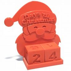 Santa Advent Countdown Calendar for Tinkercad Christmas