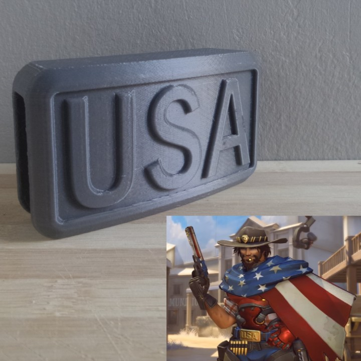 OVERWATCH - McCree - Belt Buckle ACC - USA version image