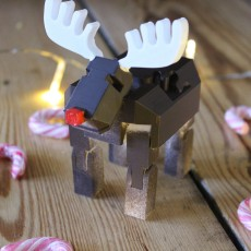 3D Print In Place Robot Reindeer for   Tinkercad Christmas !