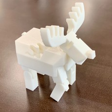 "Picture of print of 3D Print In Place Robot Reindeer for  ""Tinkercad Christmas""!"