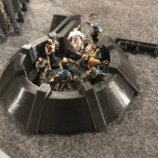 Picture of print of Warhammer 40K Defence Wall