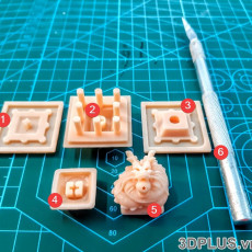 Picture of print of DBZ Shenron Mechanical keyboard Cherry Keycap