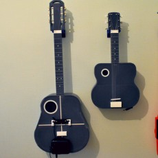 Acoustic guitar with AROMA AG-03M amplifier