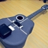 Acoustic guitar with AROMA AG-03M amplifier image