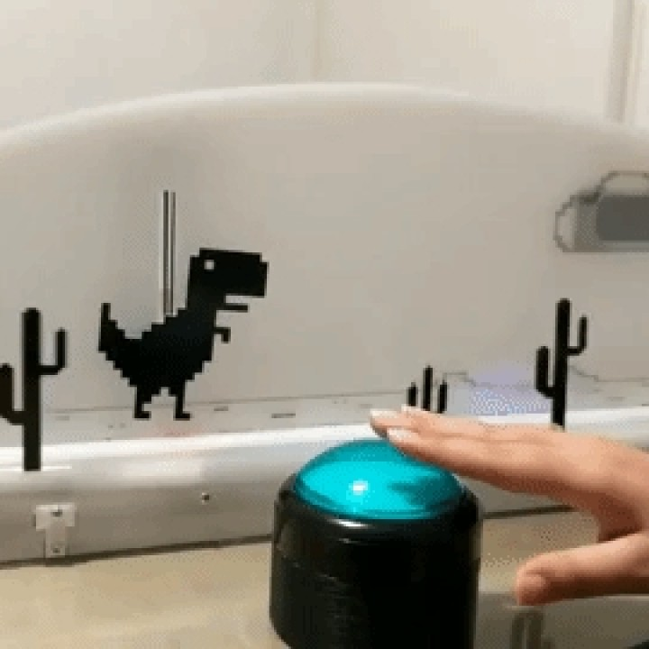 Chrome Offline T-Rex Game In Real Life