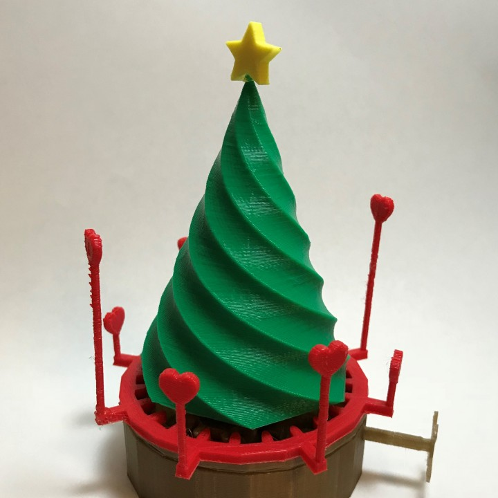 rotating christmas tree tinkercad christmas image