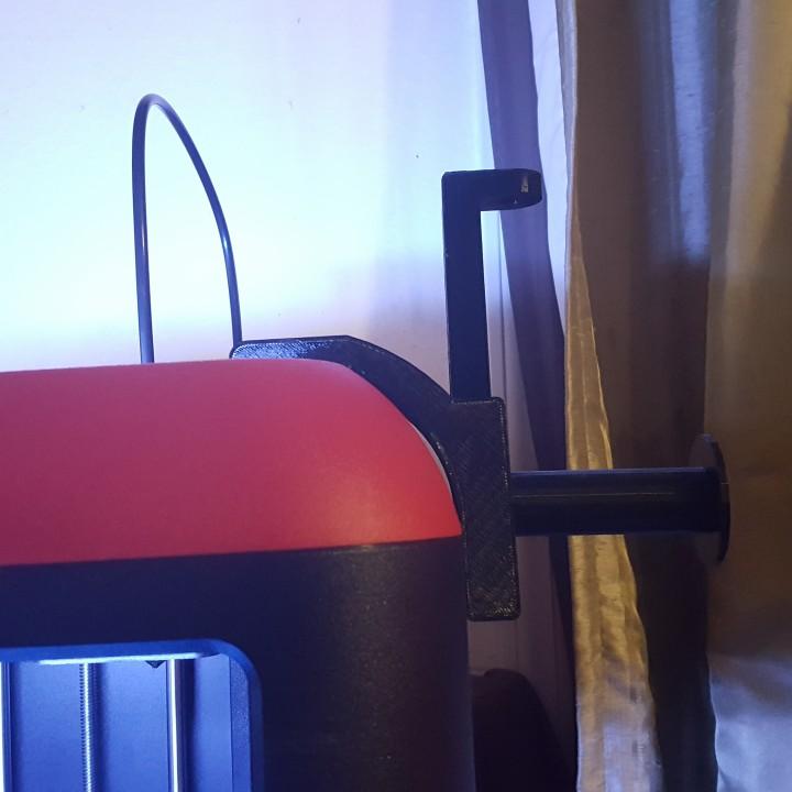 3D Printable Spool Holder for FlashForge Finder by Charles Arndt