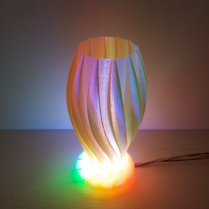 Wave Carved lamp