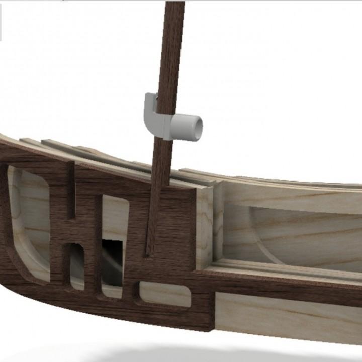 Gooseneck for model boats