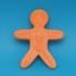 Gingerbread man template image