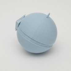 Picture of print of Christmas Pokéball Ornament