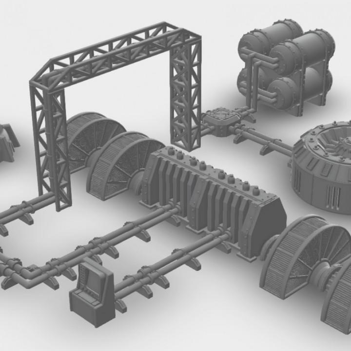 Warhammer 30K / 40K compatible Terrain - Pipelines