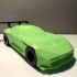 Low-poly Aston Martin Vulcan print image