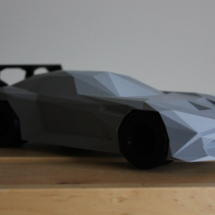 Low-poly Aston Martin Vulcan
