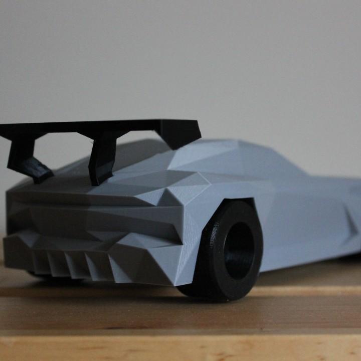 Low-poly Aston Martin Vulcan