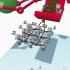modern santa sleigh #TinkercadChristmas image