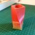 Twisted square vase with base image