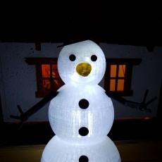 Snowman V2 for  Tinkercad Christmas