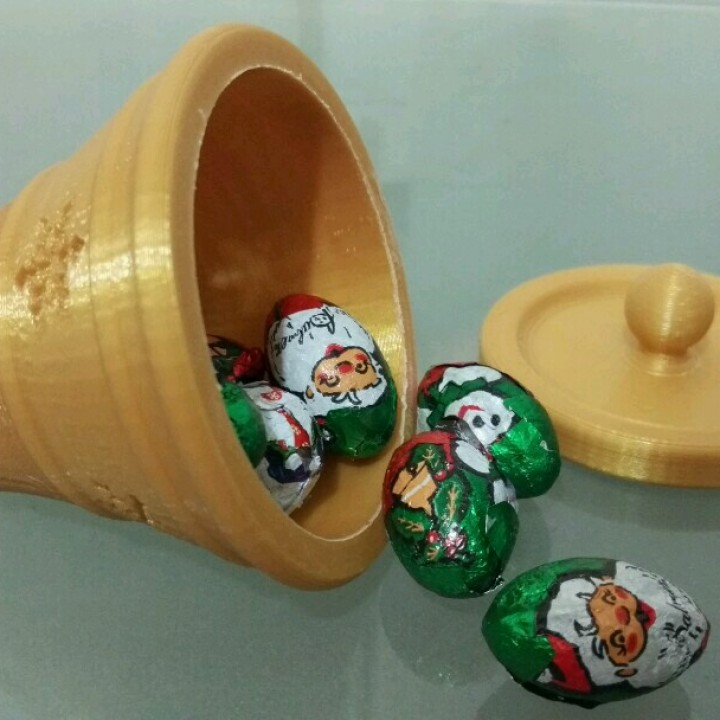 Christmas bell ornament (with hidden compartment)
