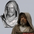 OLD LUKE SKYWALKER INSPIRITED BUST image