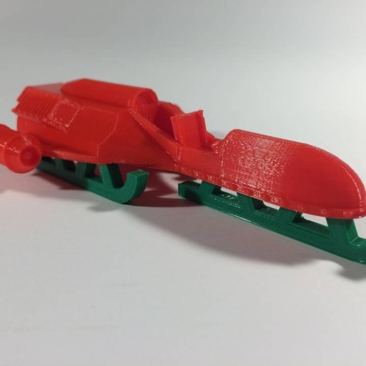 TinkerCAD Christmas (3D Printable Modern Jet Powered Santa Sled)