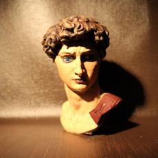 Picture of print of Head of Michelangelo's David
