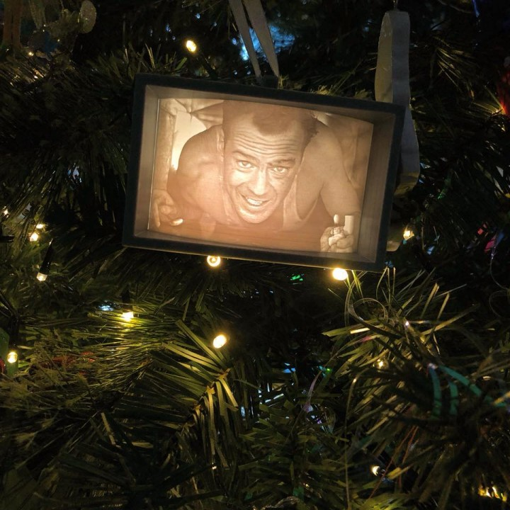 3D Printable Die Hard Christmas Ornament by Daniel Beek