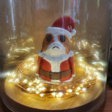 Picture of print of Santa Porg  - Star Wars
