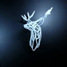Wire Stag Trophy Head  200 mm High Facing Right
