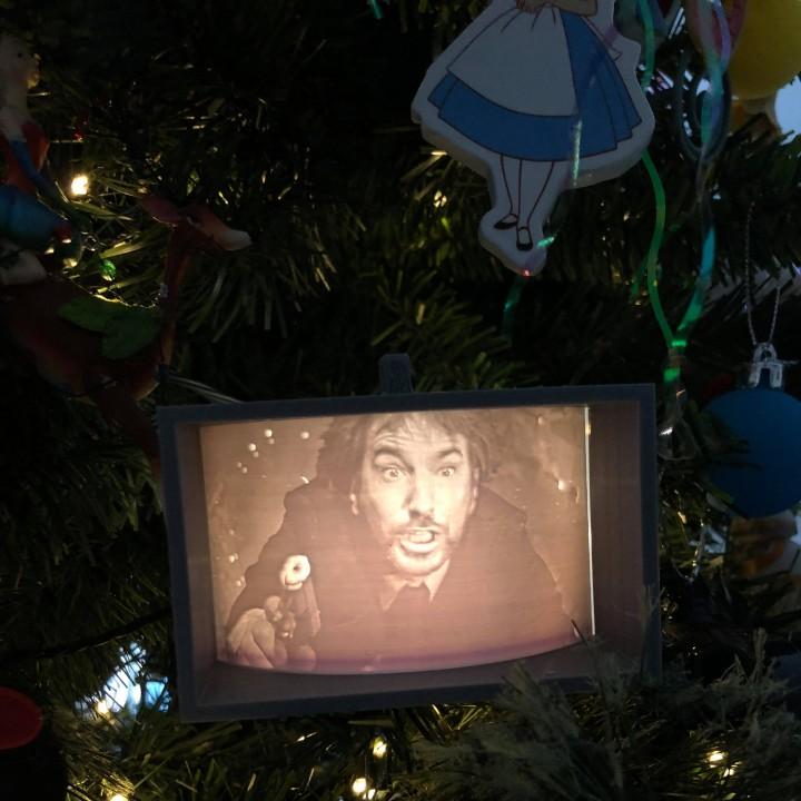Die Hard Christmas Ornament (Hans Gruber Falling)