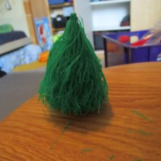 hairy christmas tree and foot