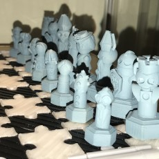 Picture of print of Doctor Who Chess 2018