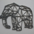 Low Poly Elephant print image