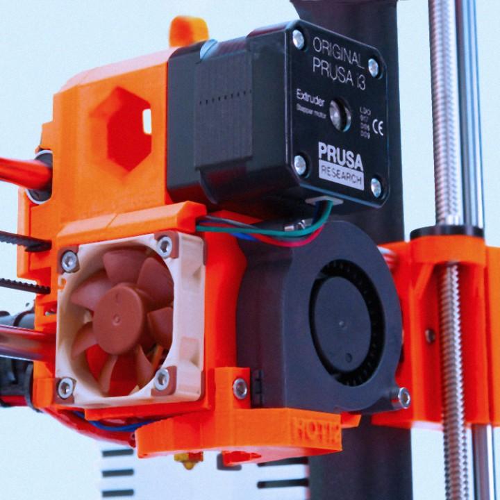 3D Printable Original Prusa MK2 3 extruder (MK2/MK3 hybrid