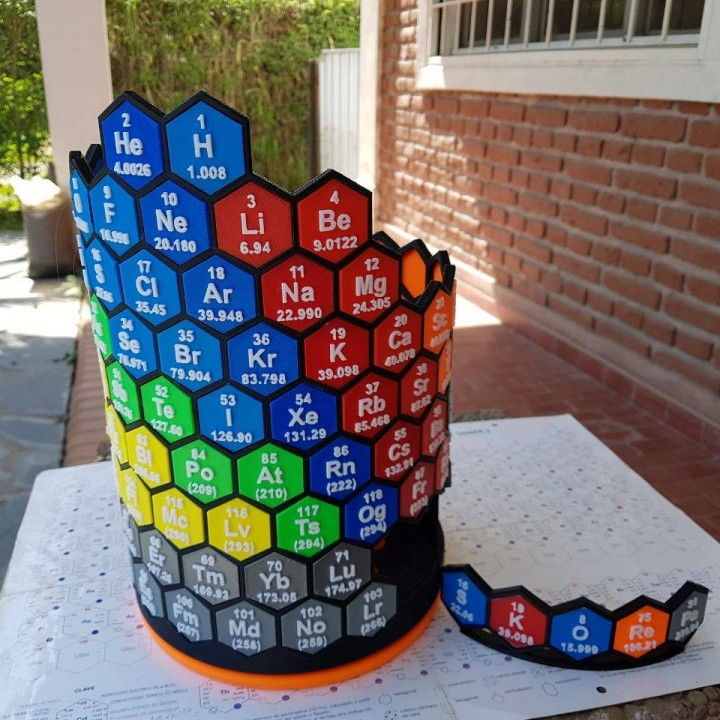 3d printable 3d periodic table by ezequiel skorepa 3d periodic table image urtaz Image collections