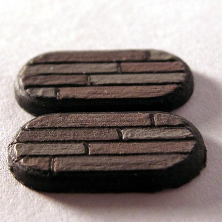 Wood Plank Gaming Miniature Base